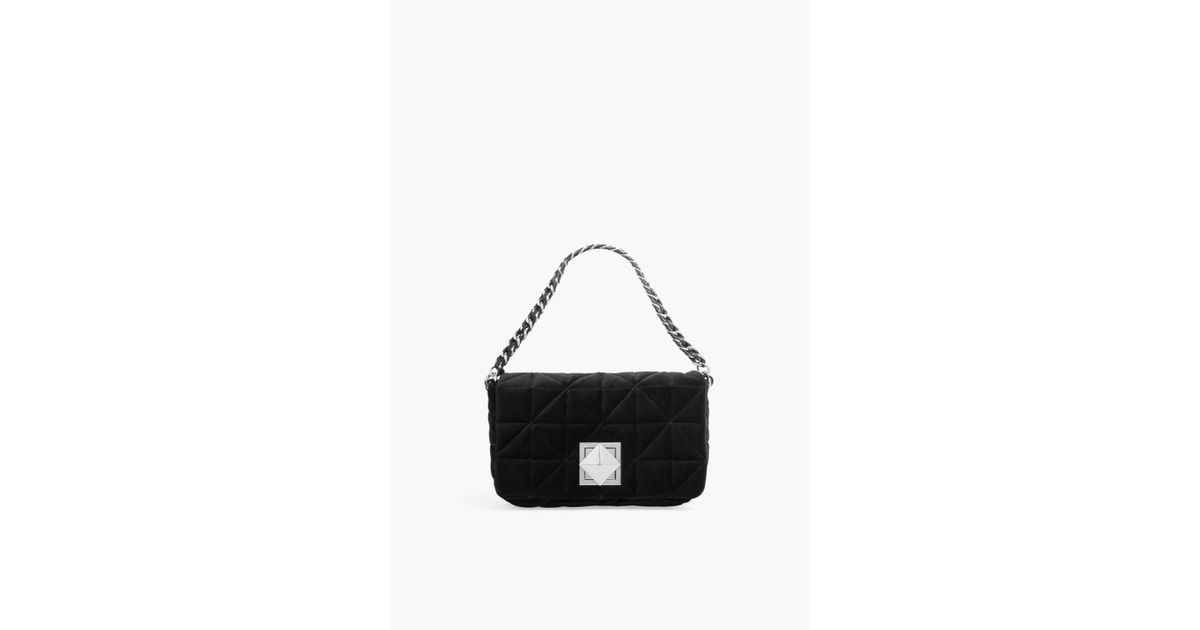 0f2666257f Sonia Rykiel Le Copain Large Velvet Bag in Black - Lyst