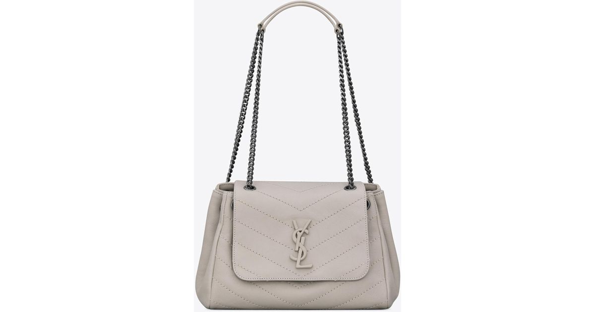 4eda0678aa12 Lyst - Saint Laurent Nolita Small Chain Bag in White
