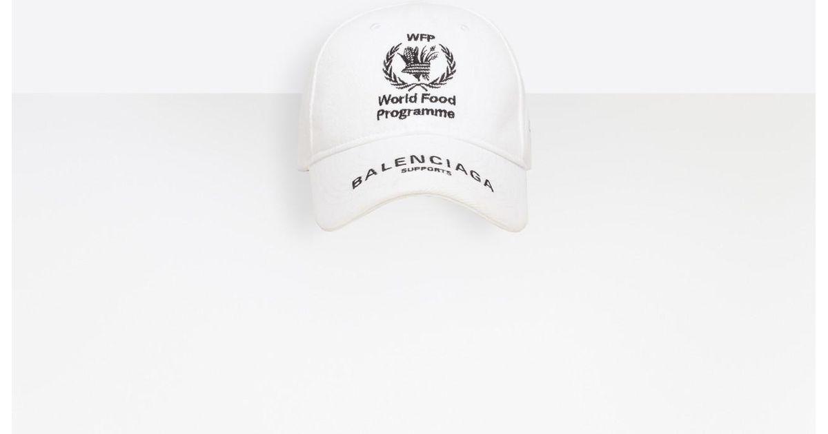 ae10b426 Lyst - Balenciaga World Food Programme Cap in White
