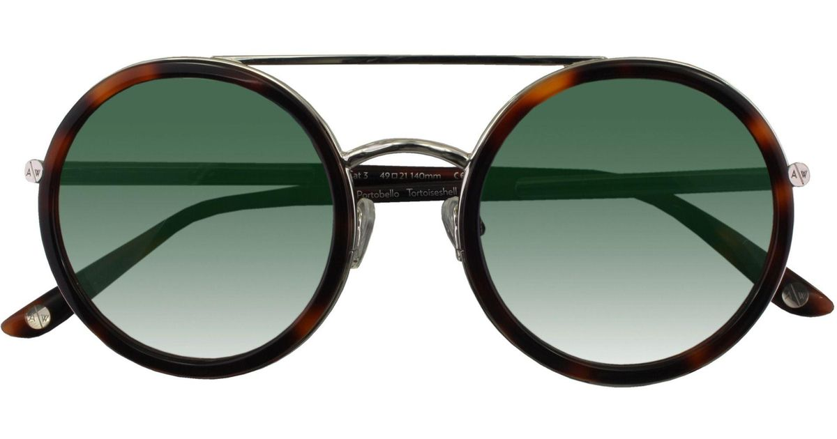 553ee9550b Lyst - Amanda Wakeley The Portobello Tortoiseshell Sunglasses
