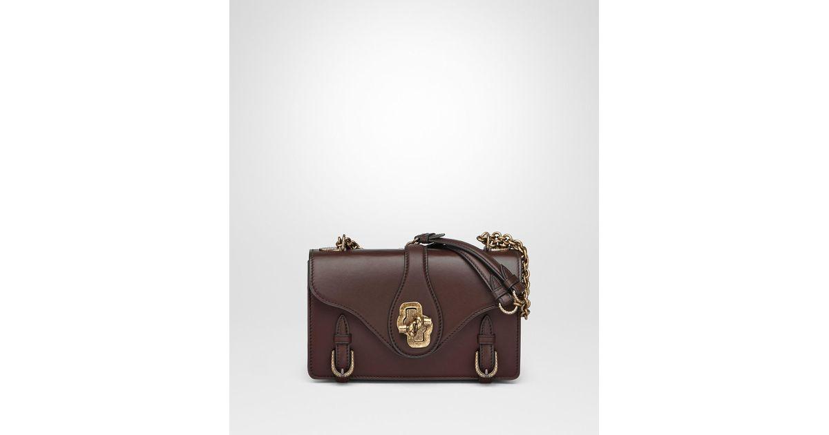743a98f53117 Lyst - Bottega Veneta Dark Barolo Calf City Knot Bag in Brown