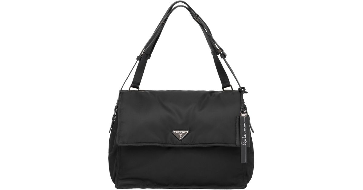 158e0fbea0ad Prada Invites Shoulder Bag in Black - Lyst