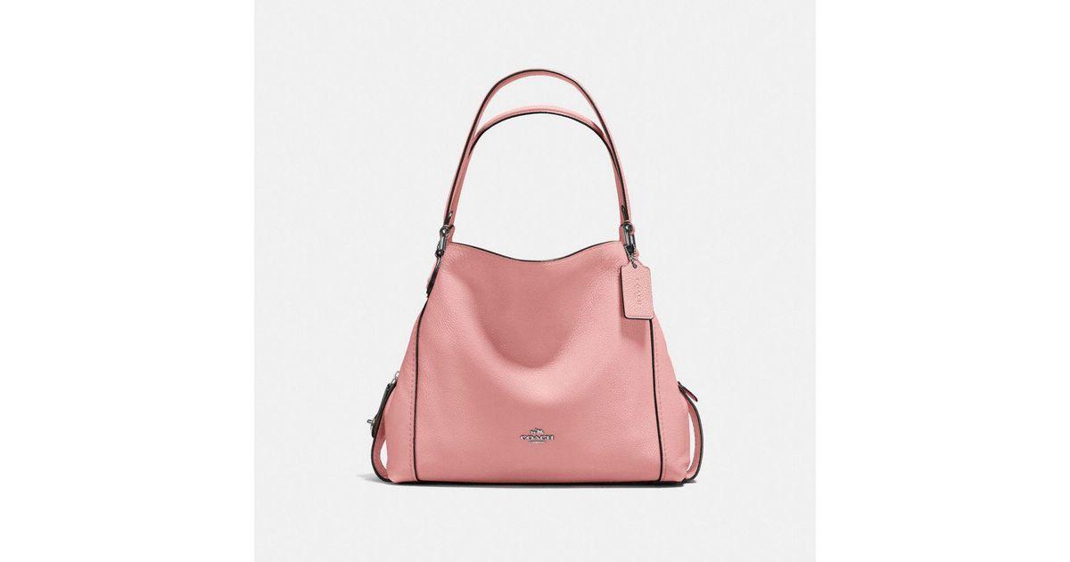 e625020122 Lyst - Coach Edie Shoulder Bag 31 in Pink