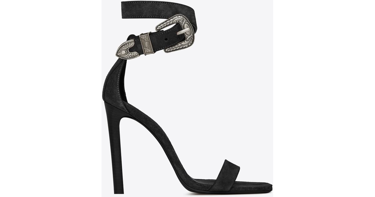 9c9a5884cafd Lyst - Saint Laurent Mica Western Sandals in Black