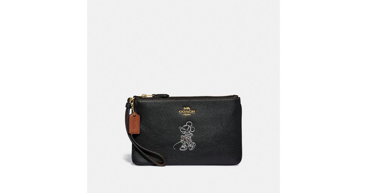 Mouse With Wristlet Boxed Black In Lyst Coach Minnie Small Motif YwaHctq1x