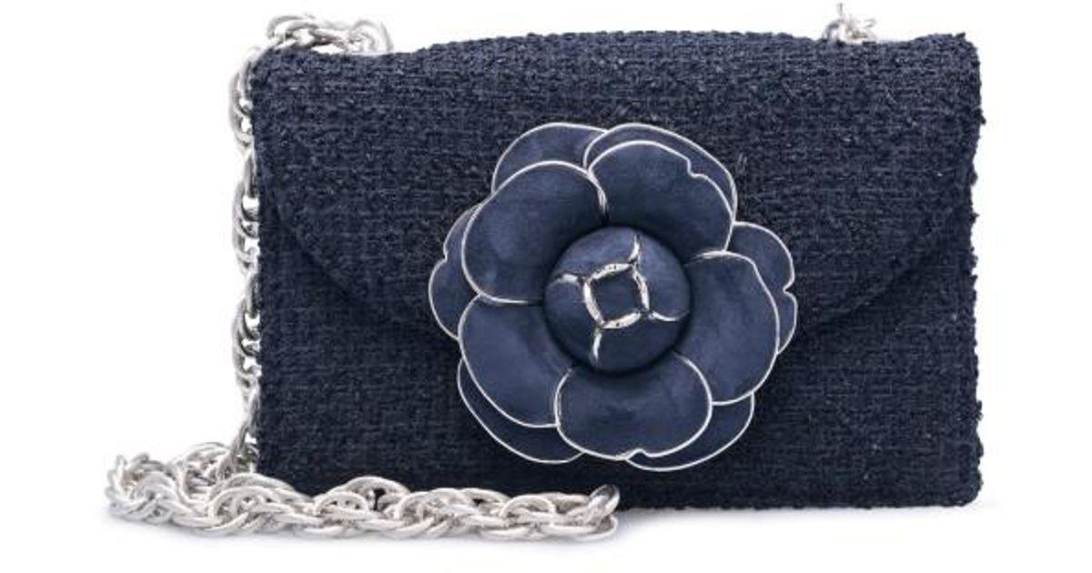 Oscar De La Renta Floral Boucle Bag - Blue Propre Et Classique Acheter Pas Cher Faux 5J0ZWdpF5q