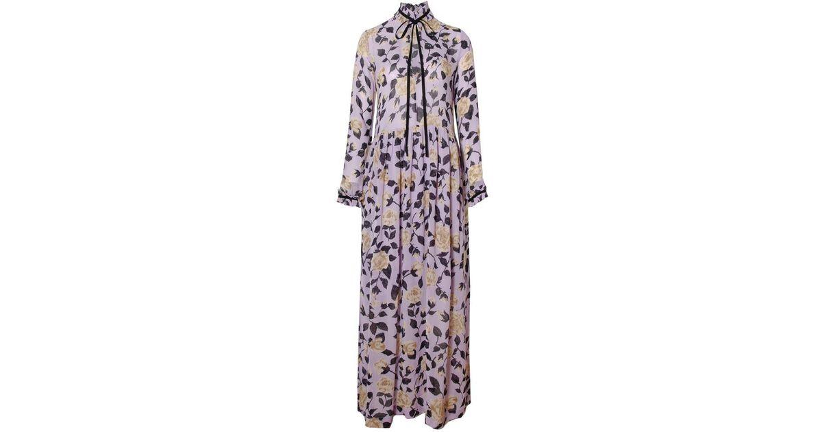 cd9f9210 Ganni Carlton Georgette Maxi_pastel Lilac in Purple - Lyst