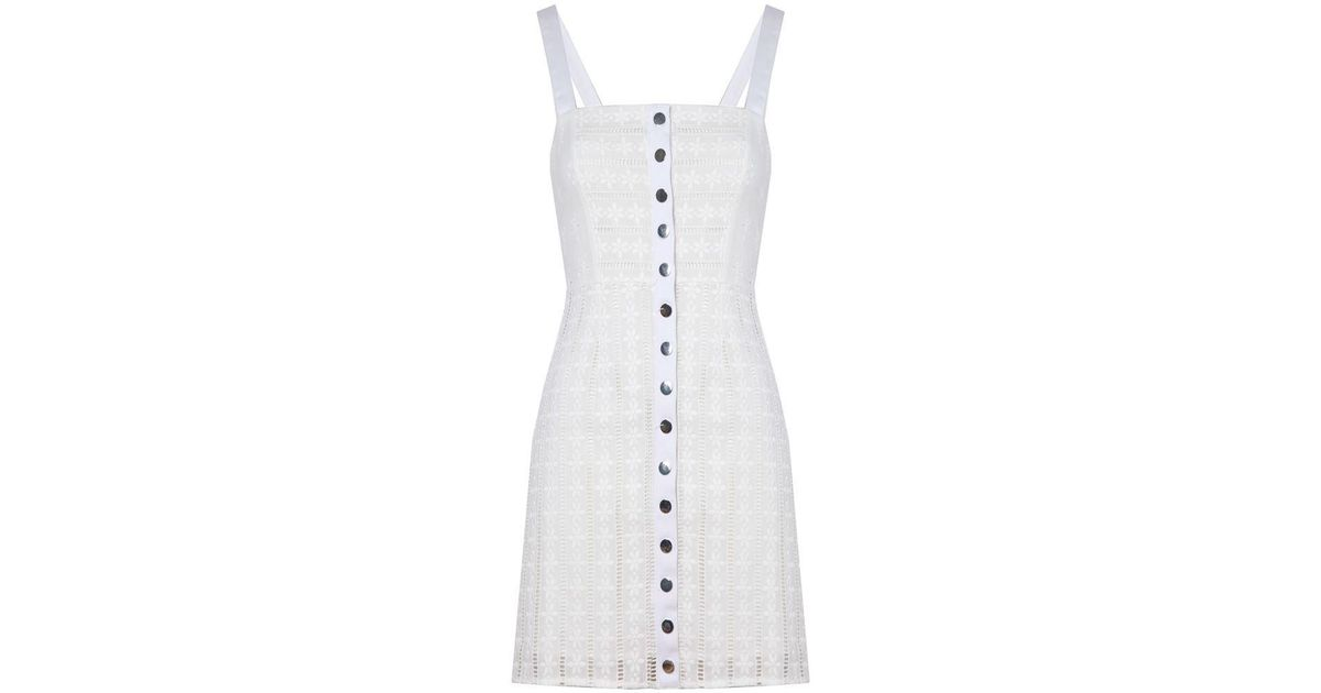 beb857508c12 Lyst - For Love   Lemons Hermosa Eyelet Snap Dress White in White