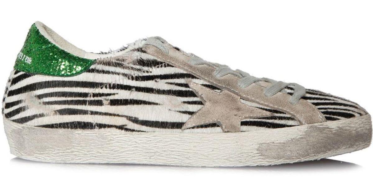 e5ada1e9b20e Lyst - Golden Goose Deluxe Brand Sneakers Superstar Zebra Pony Ice Star