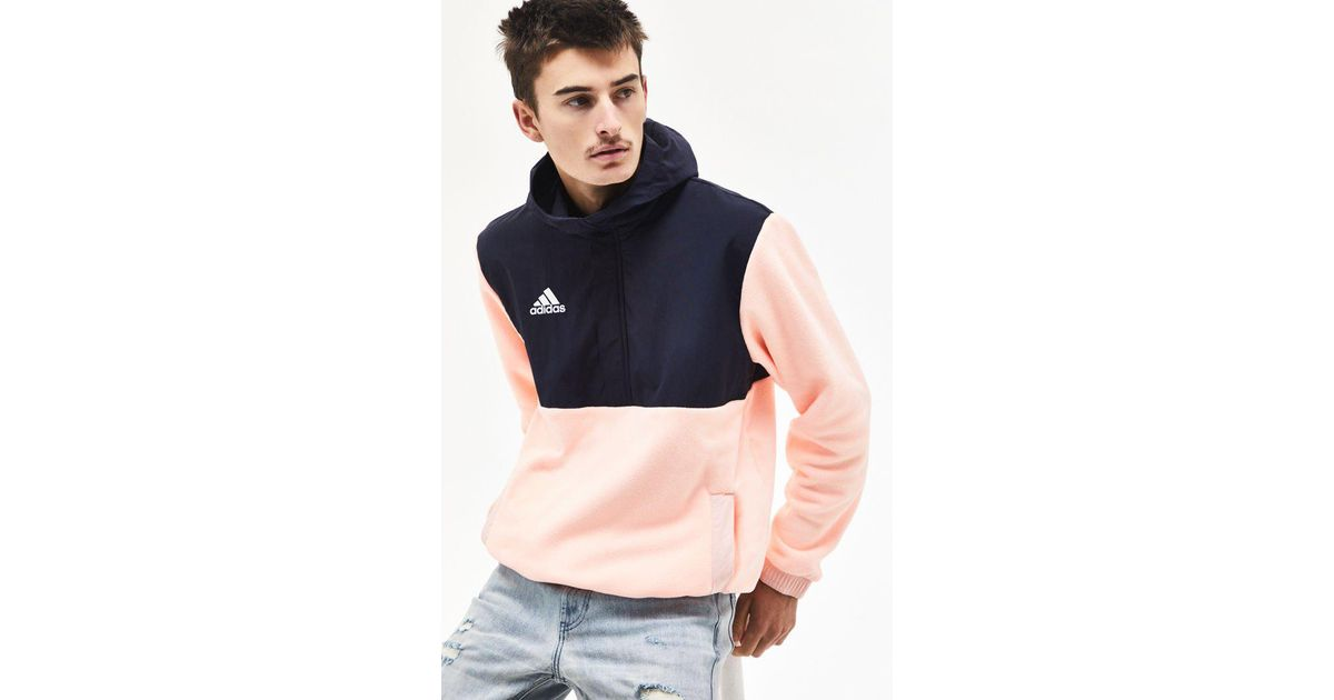 sale usa online designer fashion ever popular Adidas Pink Tango Colorblock Hoodie for men