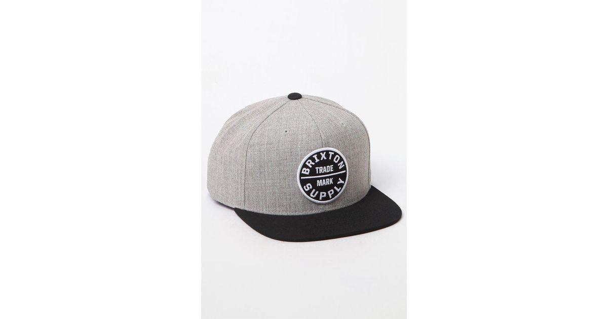 f8644e84ca134 Lyst - Brixton Oath Iii Snapback Hat in Black for Men