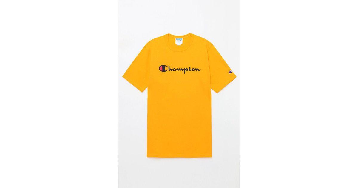 cbfea22b222 Lyst - Champion Patriotic Script T-shirt in Black for Men