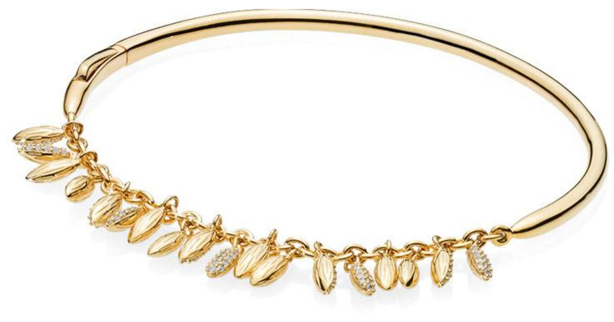 0a49e8f0f PANDORA Limited Edition Floating Grains Bangle in Metallic - Lyst