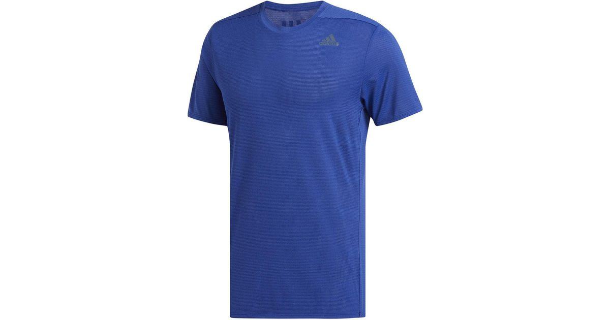51354de5f5b93 Lyst - Adidas Supernova Short Sleeve Tee in Blue for Men
