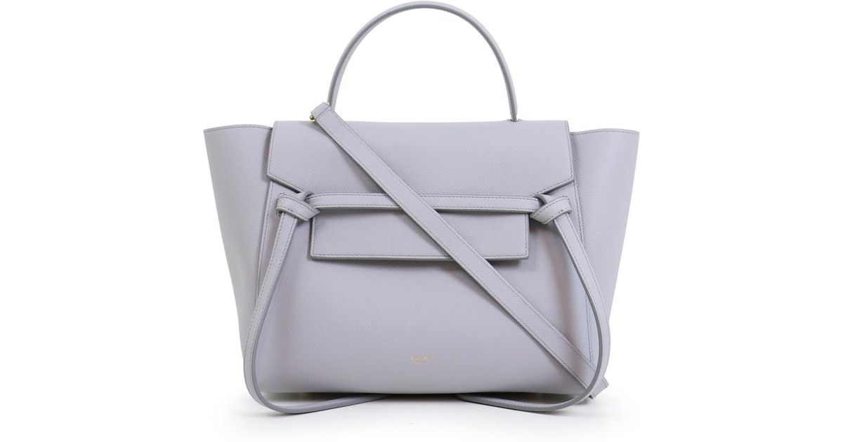 Céline Mini Belt Bag Light Grey in Gray - Lyst f65f820f23f38