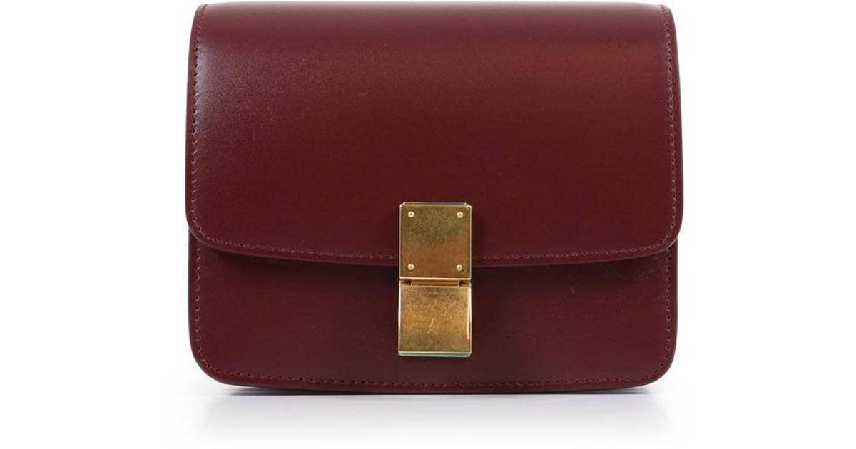 terrific value latest collection newest selection Céline Multicolor Classic Small Box Bag Bordeaux