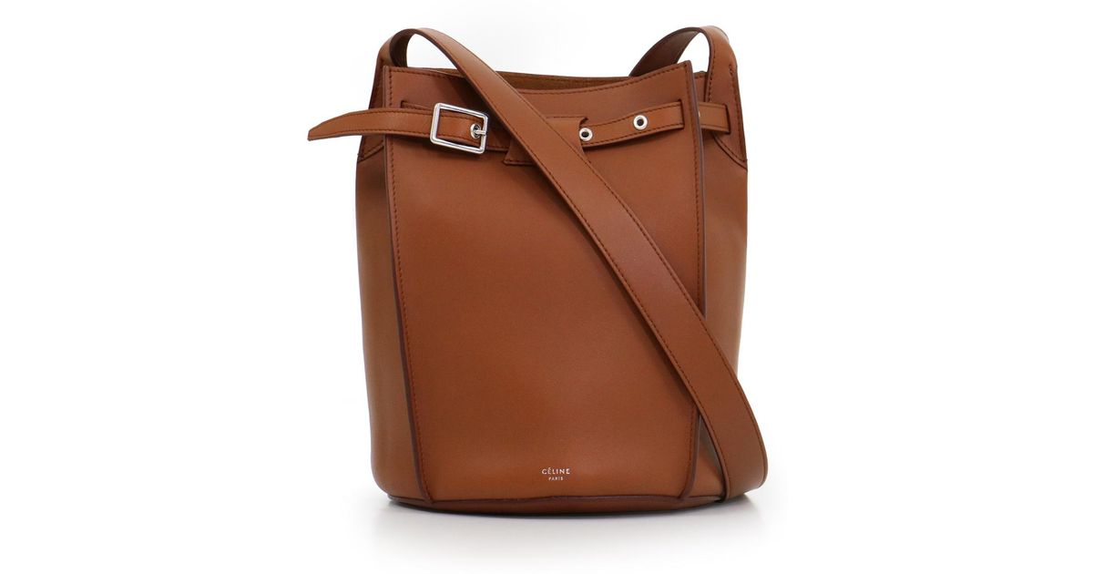 17b14b33d873 Lyst - Céline Big Bag Bucket Bag With Long Strap Tan in Brown