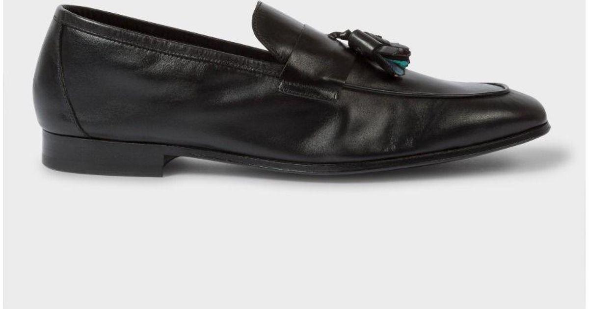 e21bdae5f2a Paul Smith Men s Black Calf Leather  glynn  Tasseled Loafers in Black for  Men - Lyst
