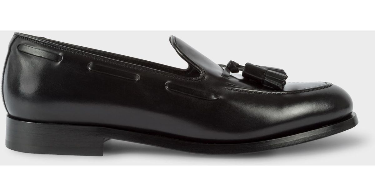 edf6e336a27 Lyst - Paul Smith Men s Black Leather  simmons  Tasseled Loafers in Black  for Men