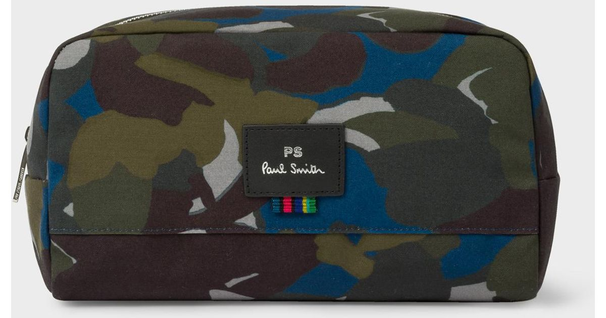 Paul Smith Camouflage Print Canvas Wash Bag for Men - Lyst 9ce40a8cc