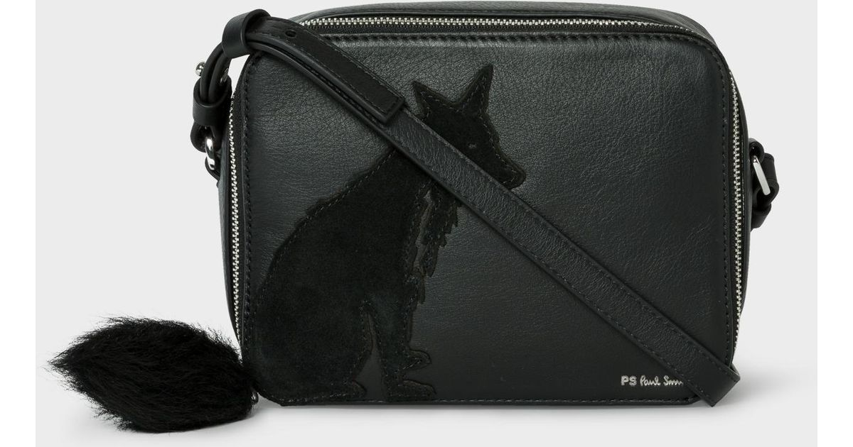 11ed9705bca Lyst - Paul Smith Black Leather  fox  Cross-body Bag in Black