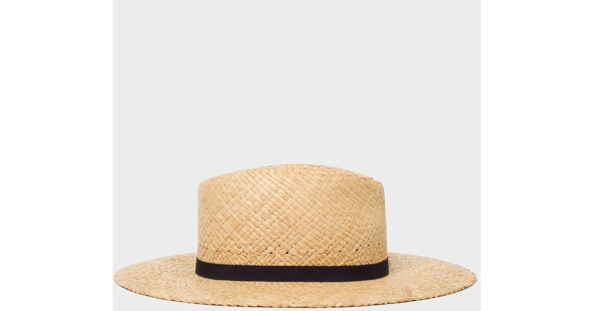 Lyst - Paul Smith Open Weave Straw Hat 1016a868173d