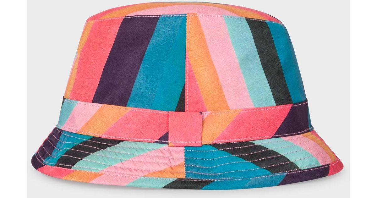 074fb2311c84e5 Paul Smith 'artist Stripe' Print Bucket Hat for Men - Lyst