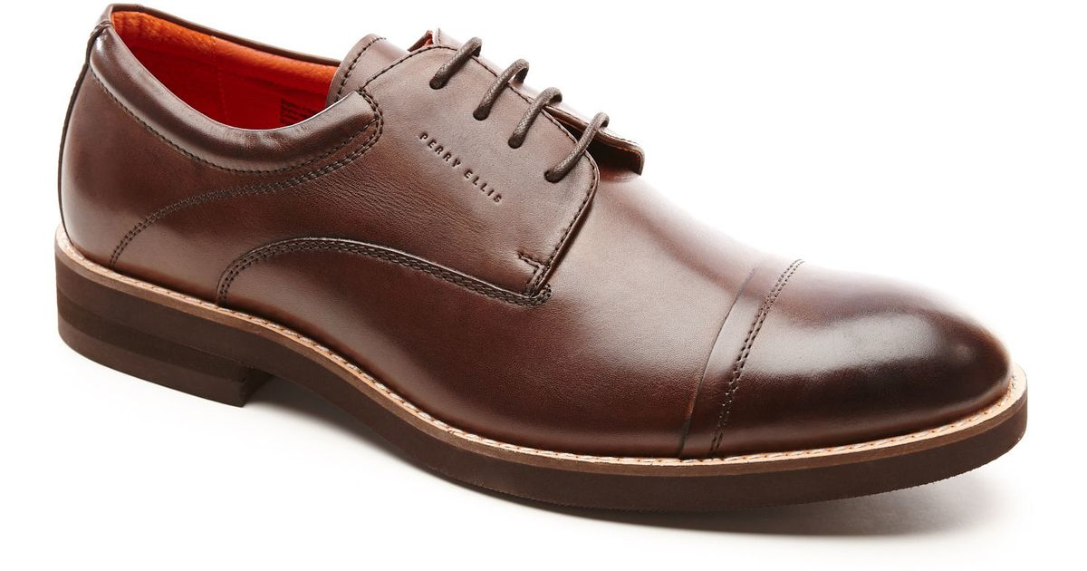 ec3274841cc Lyst - Perry Ellis Melvin Dress Shoe in Brown for Men