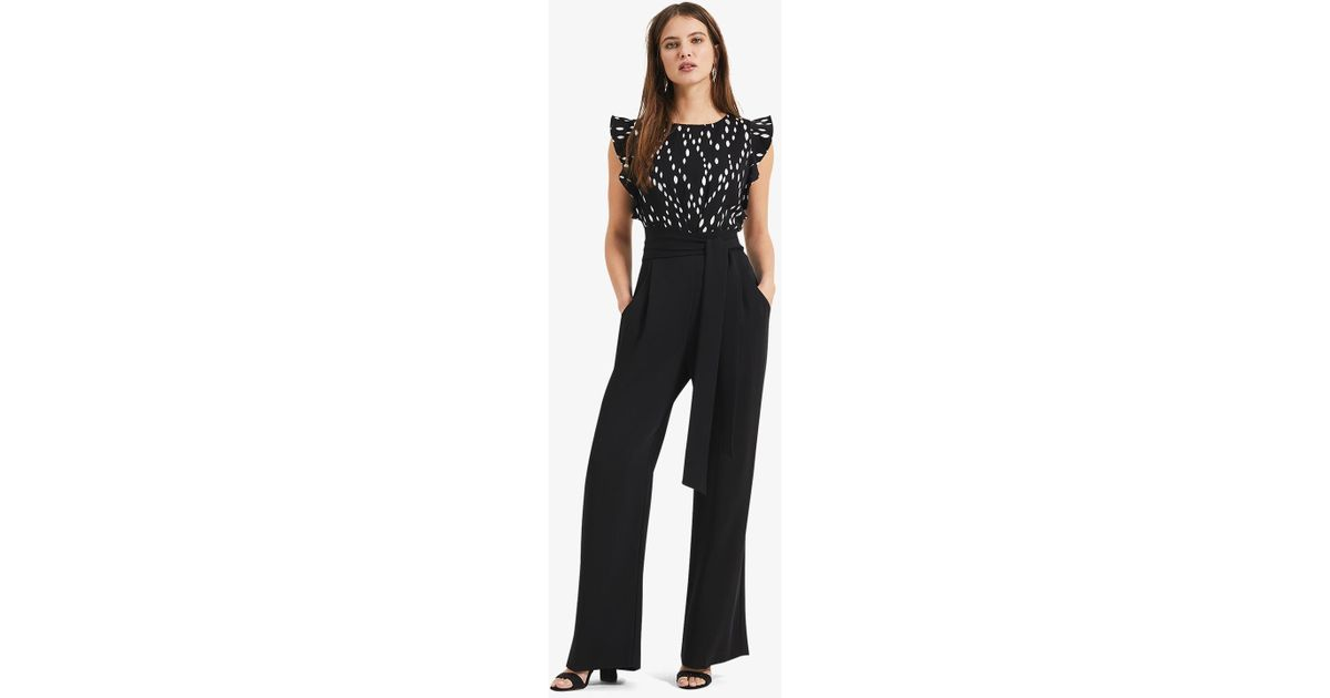 9c9d3113e805 Phase Eight Black Victoriana Foil Print Jumpsuit in Black - Lyst