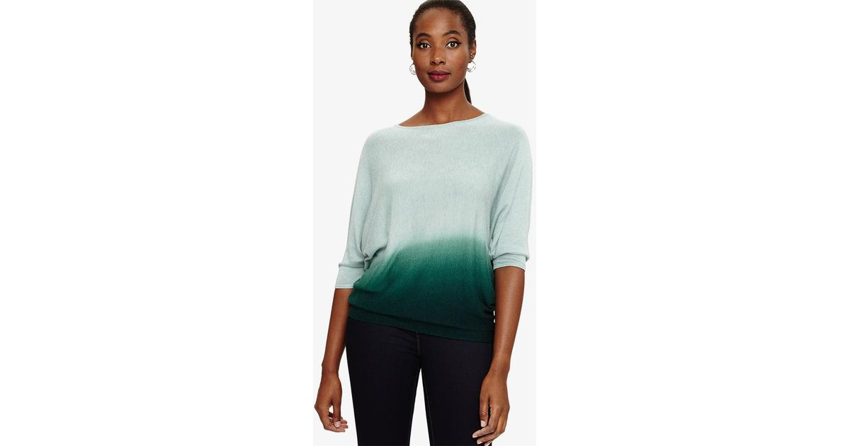 261784c104c Phase Eight - Green Becca Dip Dye Knitted Jumper - Lyst