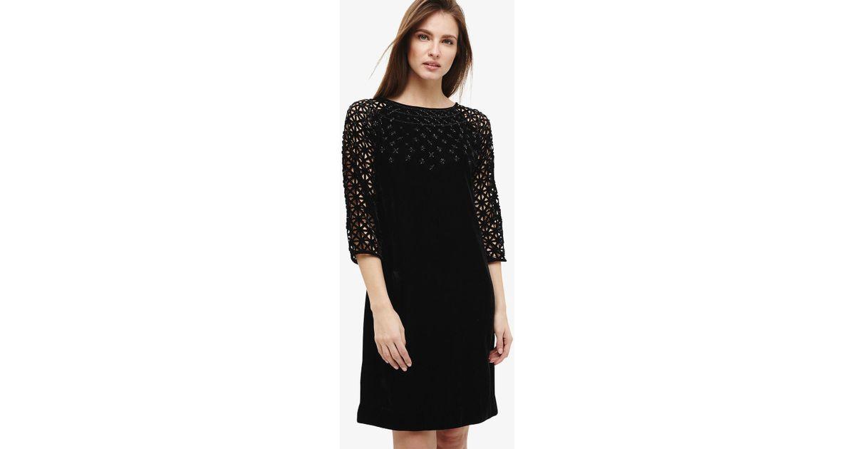 Lyst Phase Eight Nikita Embellished Dress In Black