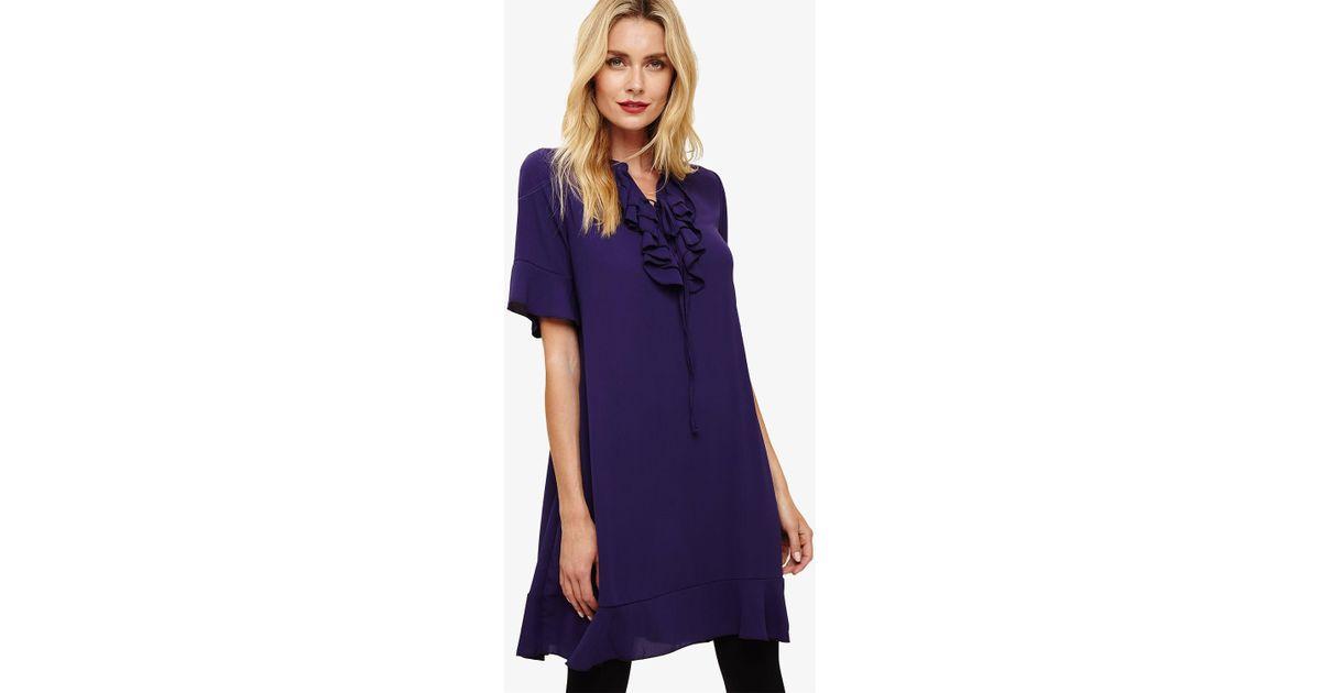1e7c035628f Lyst - Phase Eight Purple Sarah Frill Dress in Purple