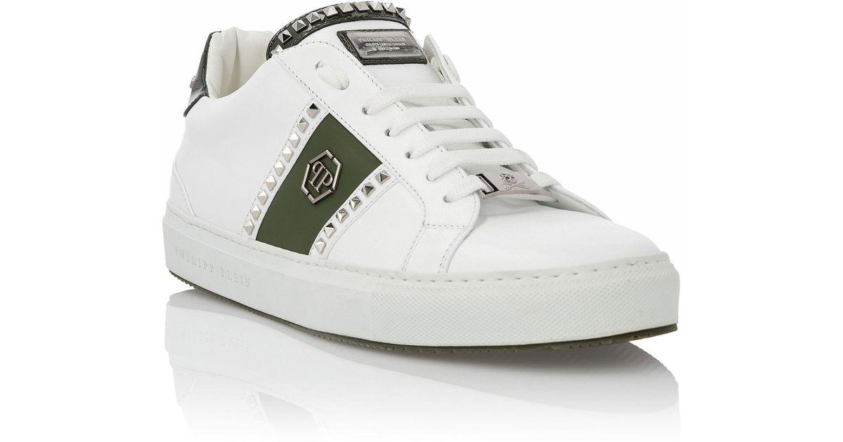 "Philipp Plein Lo-Top Sneakers ""Studs and logo"""