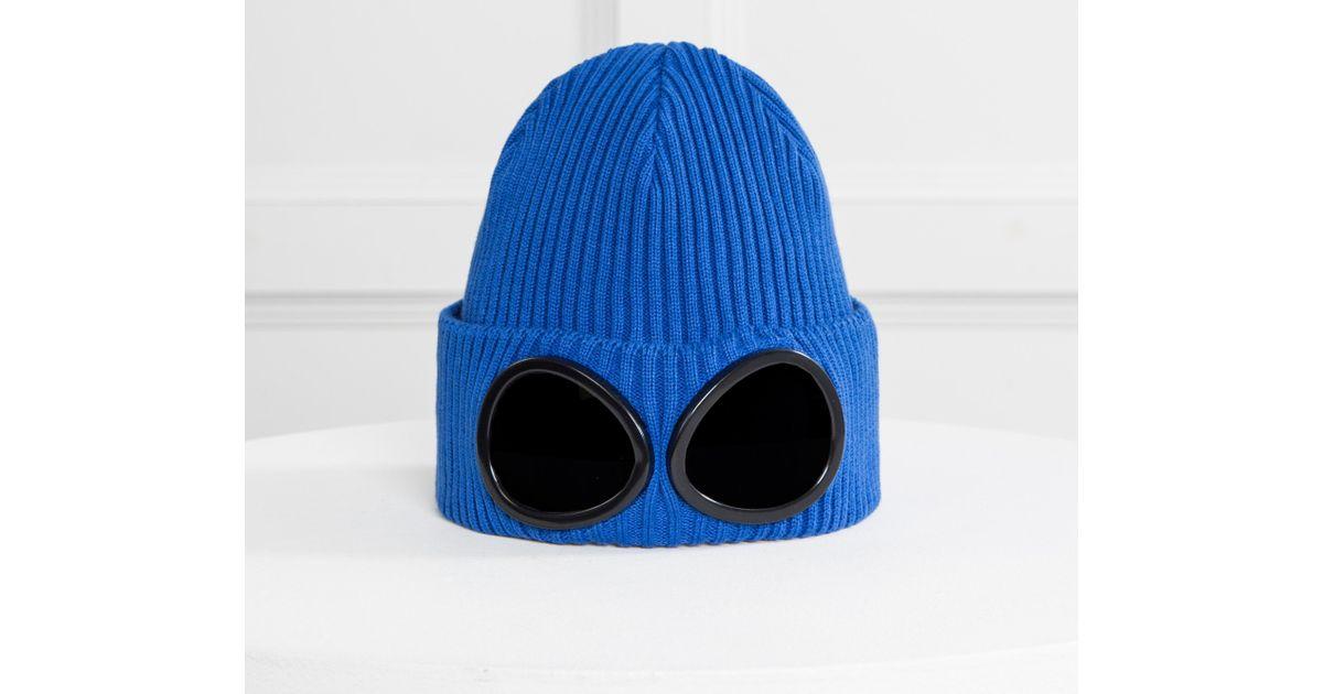 Ribbed Cotton Goggle Beanie Bright Blue C.P. Company 45AcVGF
