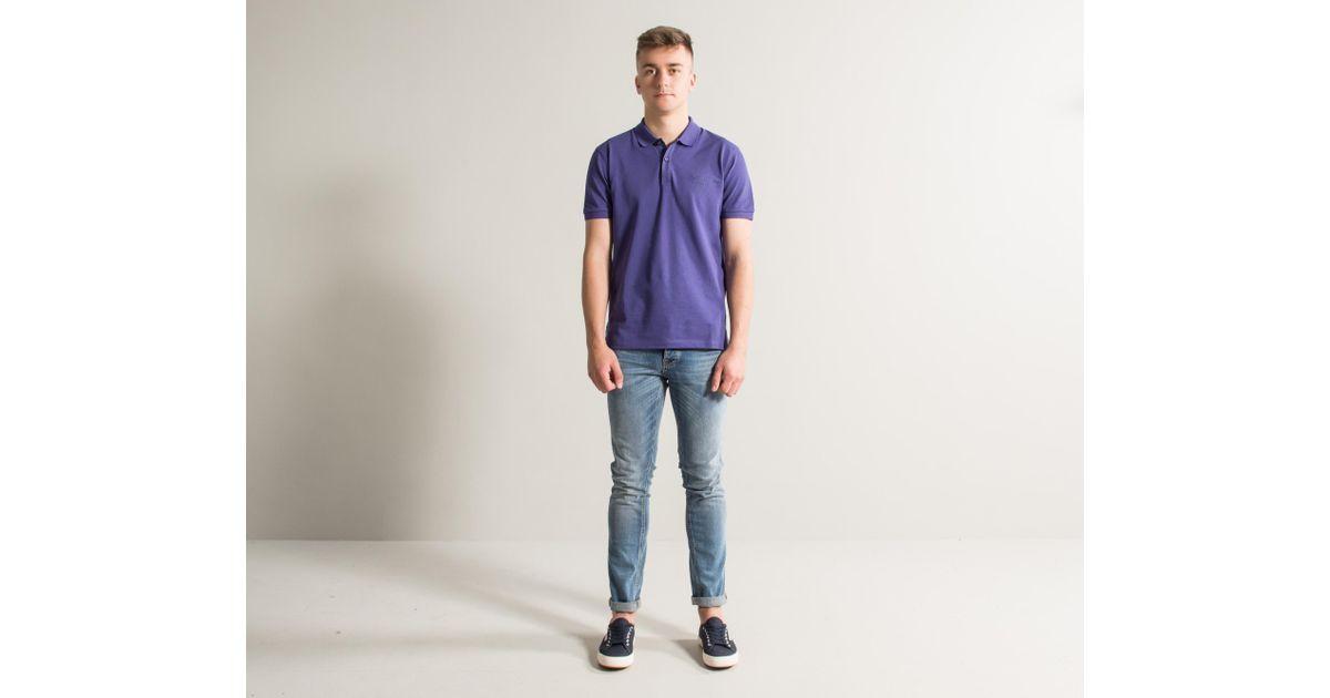 a6232569 Lyst - BOSS 'pallas' Logo Polo Purple in Purple for Men