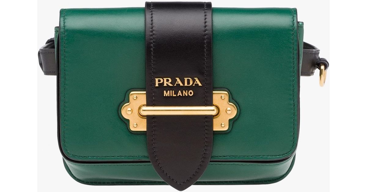 982ade5a3685 ... promo code for lyst prada cahier bag in green 65ea3 03461