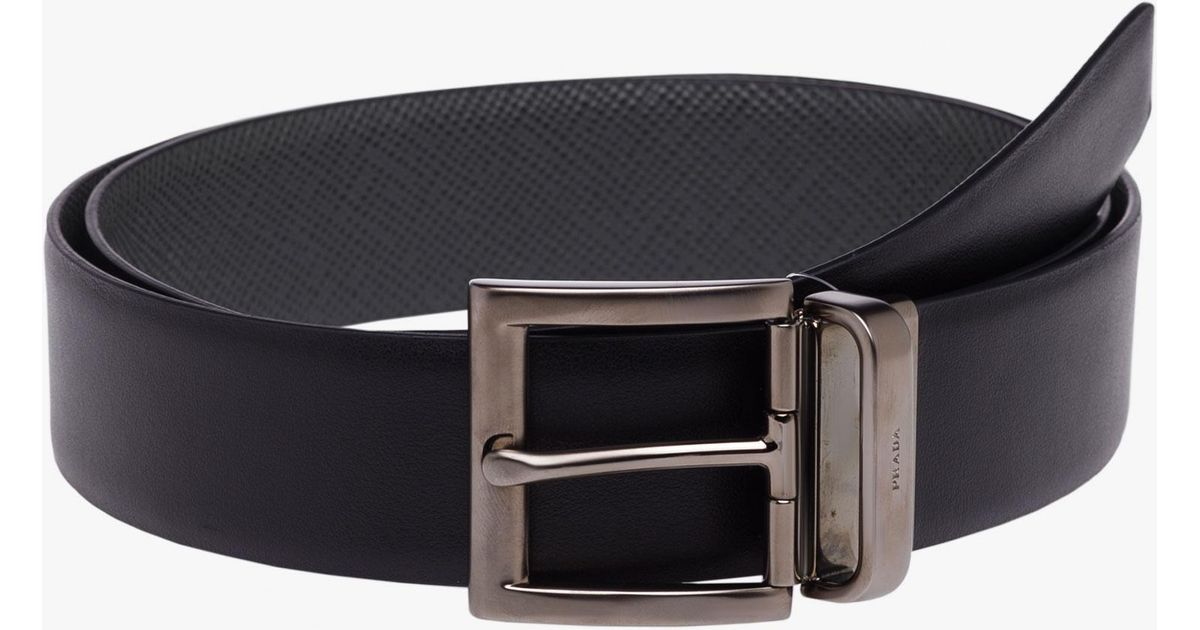 4b2ede9240 Prada - Black Belt - Lyst