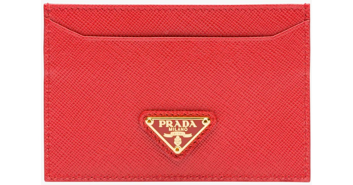 382340728131 ... real lyst prada leather cardholder in red 81c0f 514e2