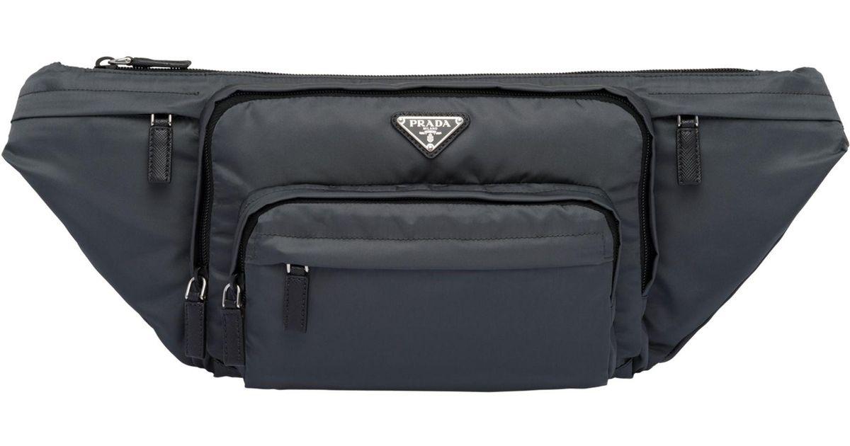 075f6927e88e ... release date lyst prada fabric belt bag in black for men 740e4 6236e  store mens ...