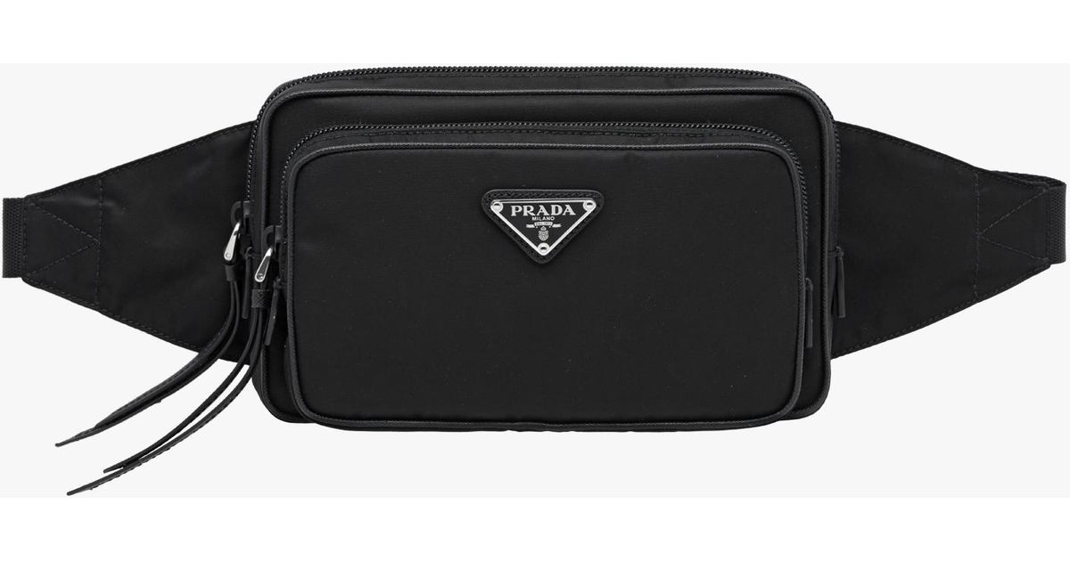 Lyst - Prada Nylon And Leather Belt Bag in Black for Men d5b9bc9cde