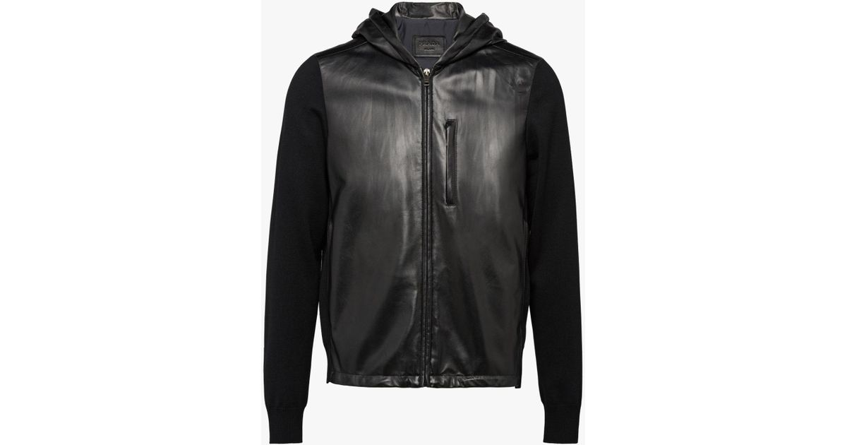 Nappa Lyst Men Light For Black Jacket Prada Leather In Erz1q