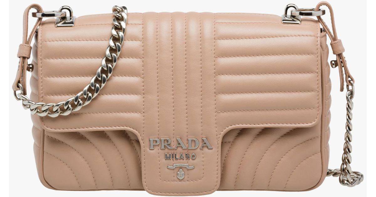 13c249ec81e Lyst - Prada Diagramme Leather Shoulder Bag