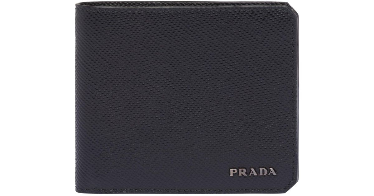 810a20f5dc645c ... coupon for lyst prada saffiano cuir leather wallet for men 1c0dd b9fa0
