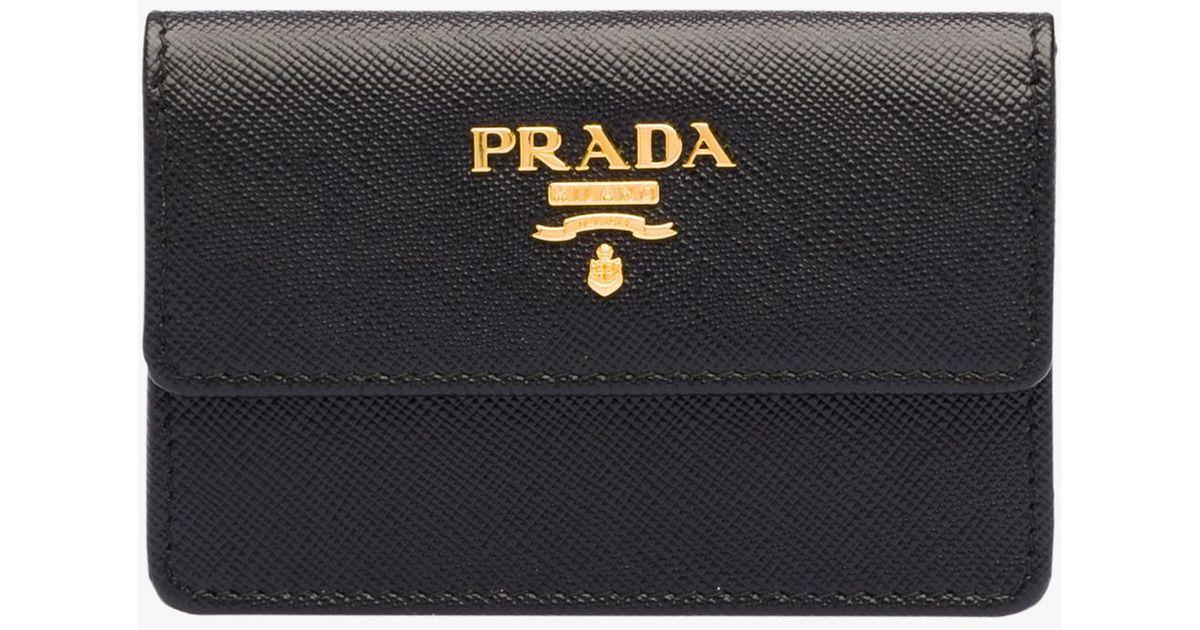 Lyst - Prada Business Card Holder in Black