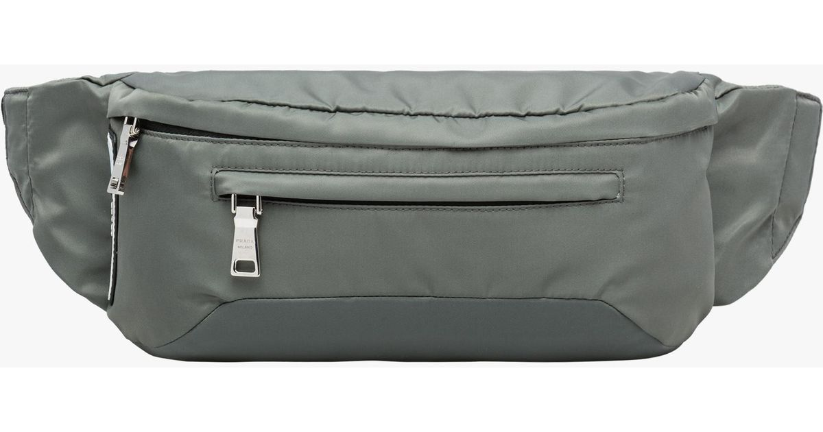 c42a1ee6e5c2 Lyst - Prada Technical Fabric Belt Bag in Gray for Men