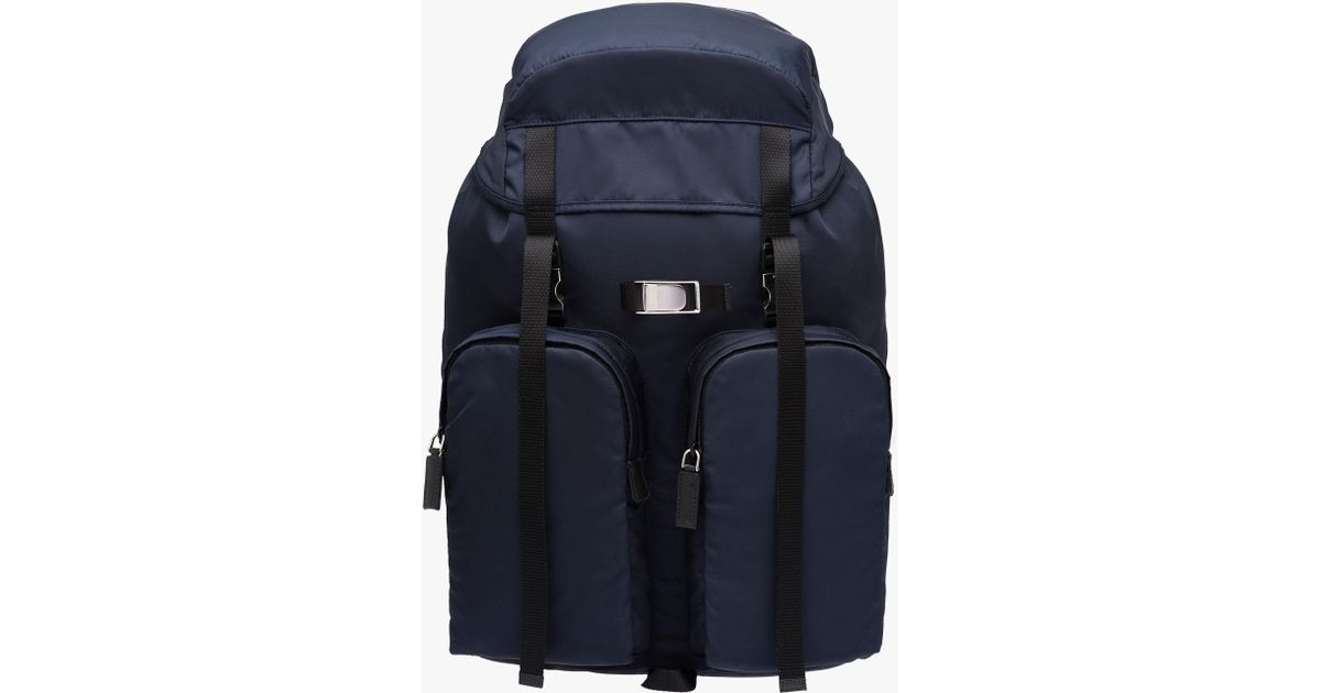 5f6f909e808d italy prada backpack tessuto montagna lyst 1f170 6e334  sale lyst prada  technical fabric backpack in blue for men 66f46 4b719