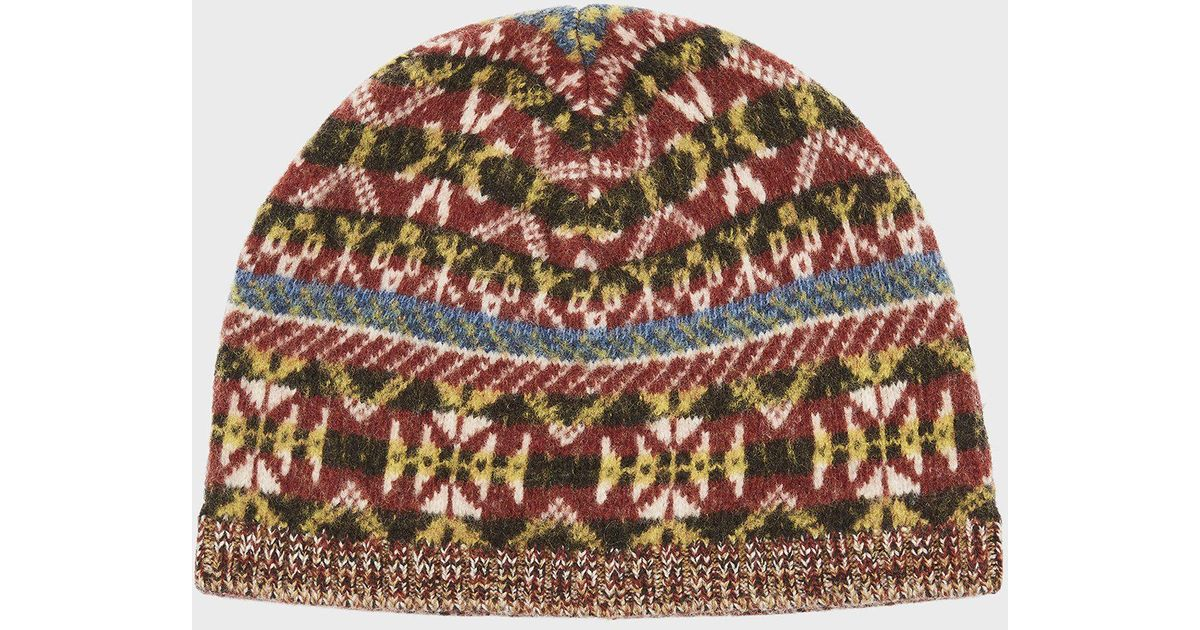 dd2d6f78bcde6 Pringle of Scotland Fair Isle Beanie In Multicolour - Lyst