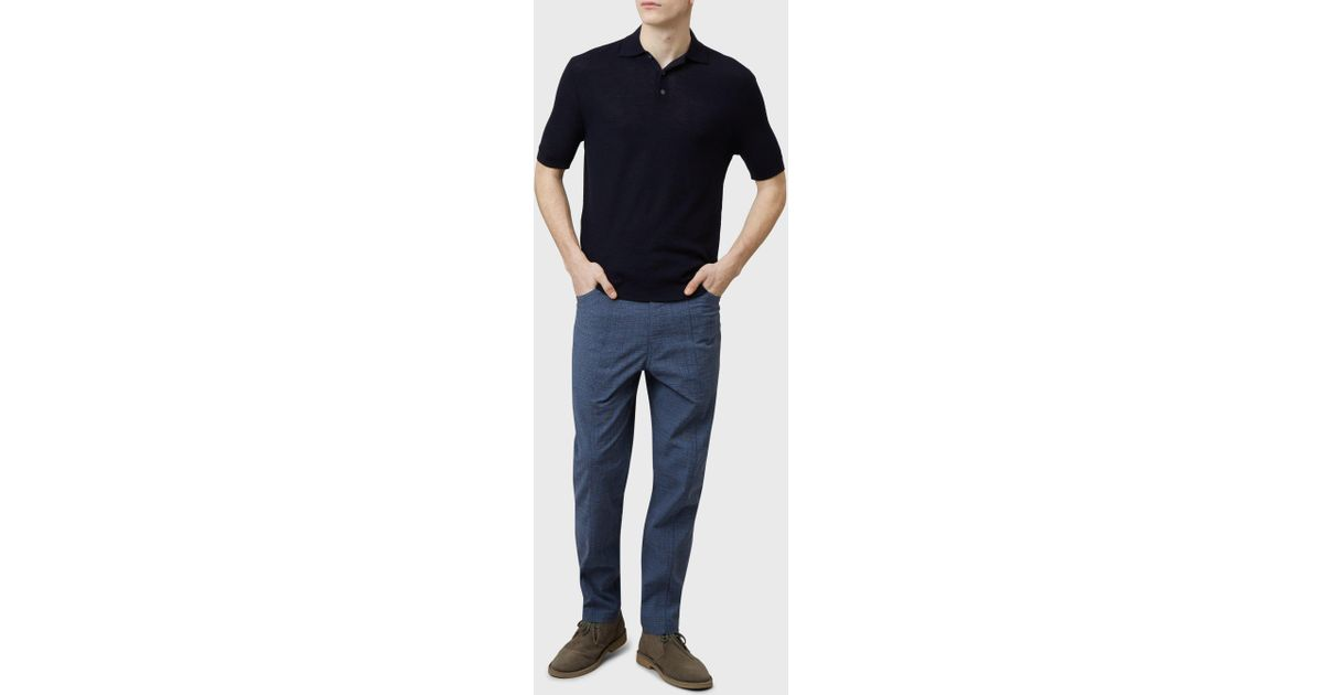 8965682a Pringle of Scotland Merino Wool Polo Shirt In Ink in Blue for Men - Lyst