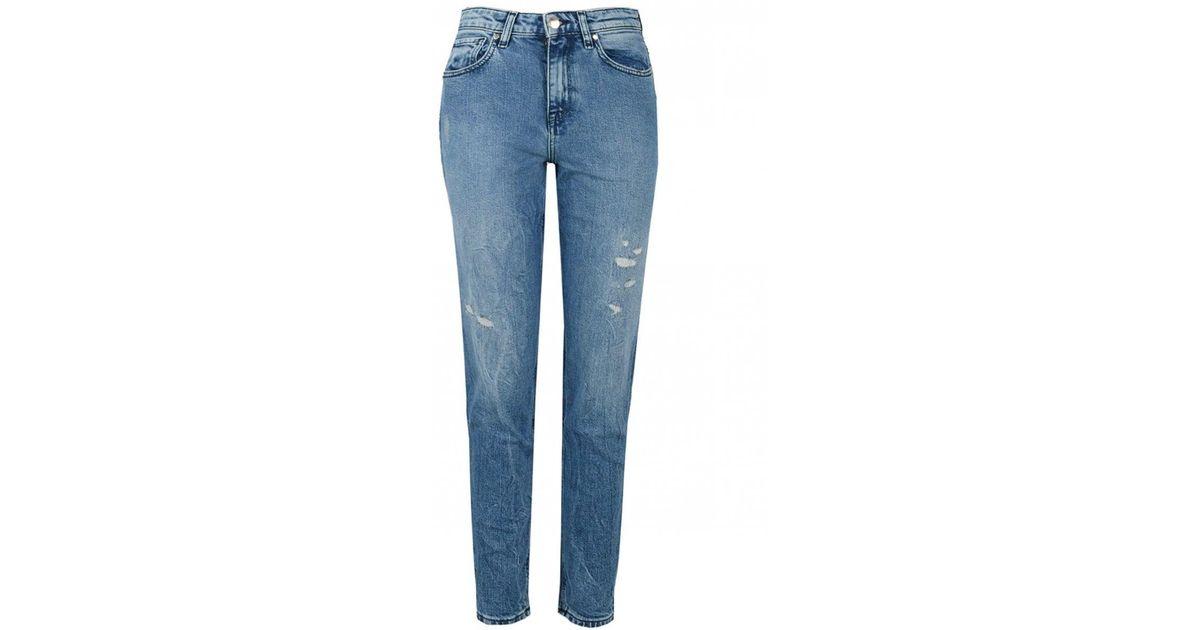 9069c91f Tommy Hilfiger Icon Gramercy High Waist Jeans in Blue - Lyst