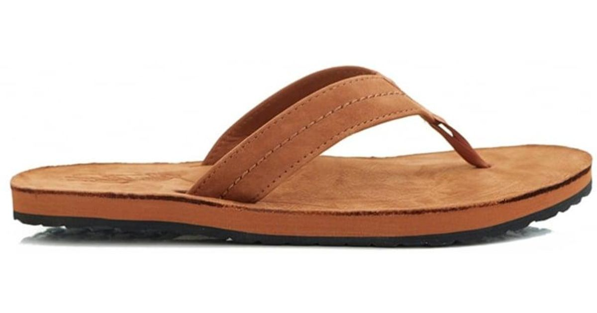 2736b5c6fa8425 Lyst - Polo Ralph Lauren Edgemont Nubuck Thong Sandals in Brown for Men